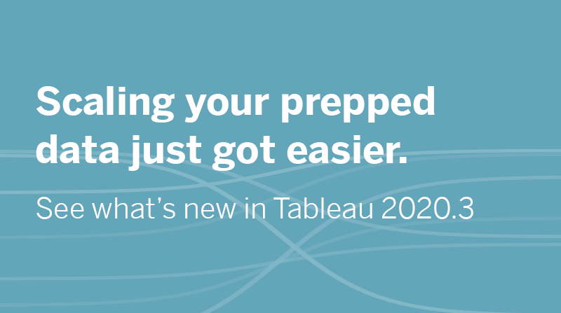 image of See what's new in Tableau 2020.3