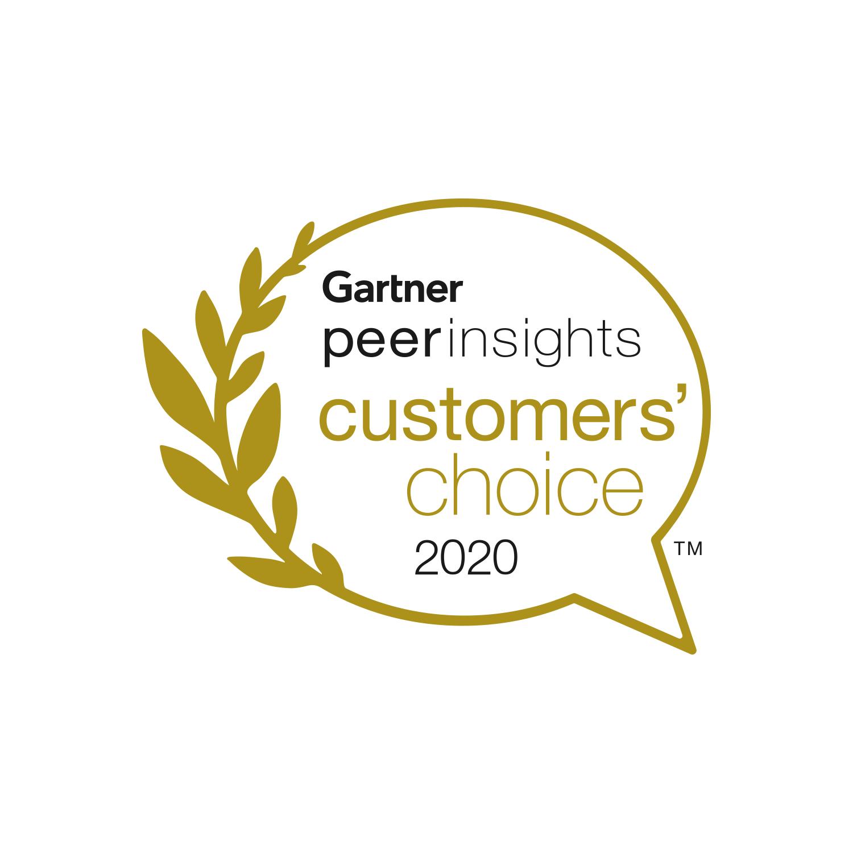Gartner Peer Insights customers choice 2020 logo