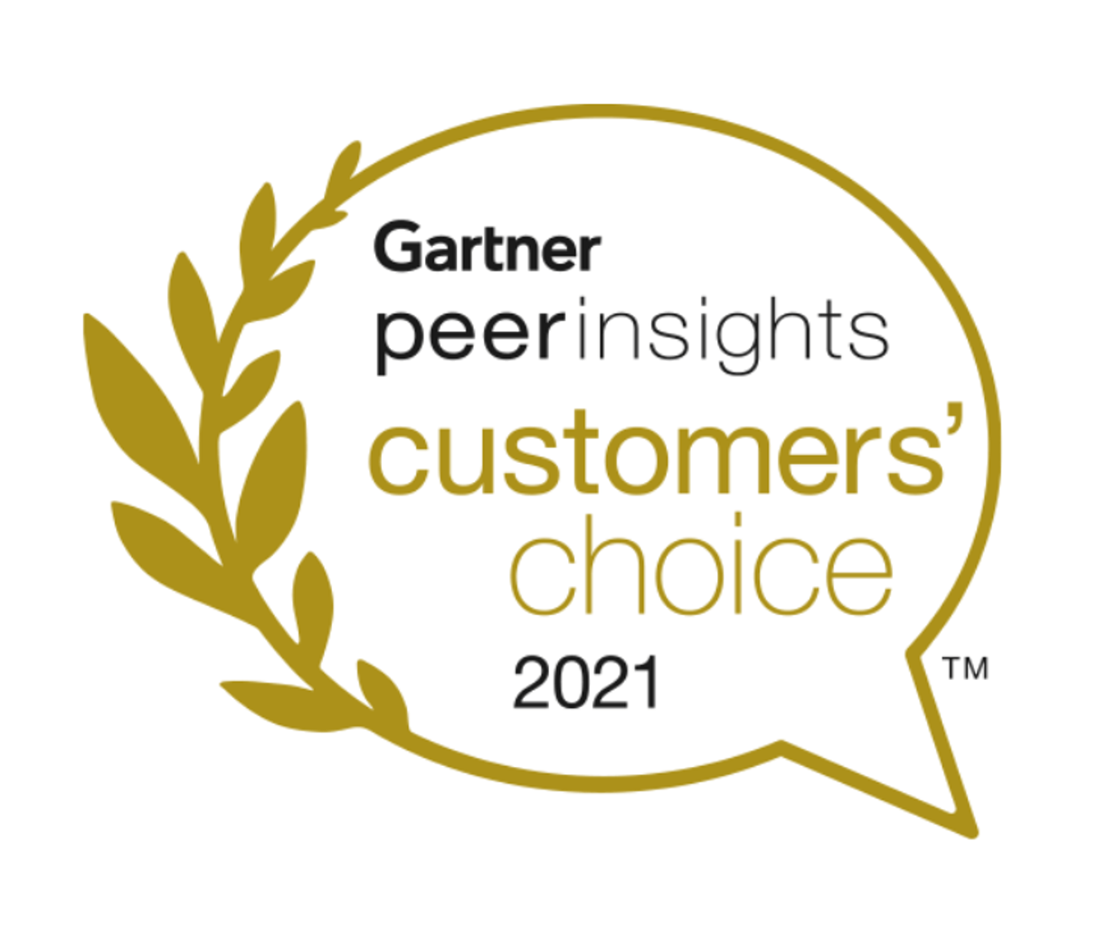 Gartner Peer Insights Customers' Choice 2021 award badge