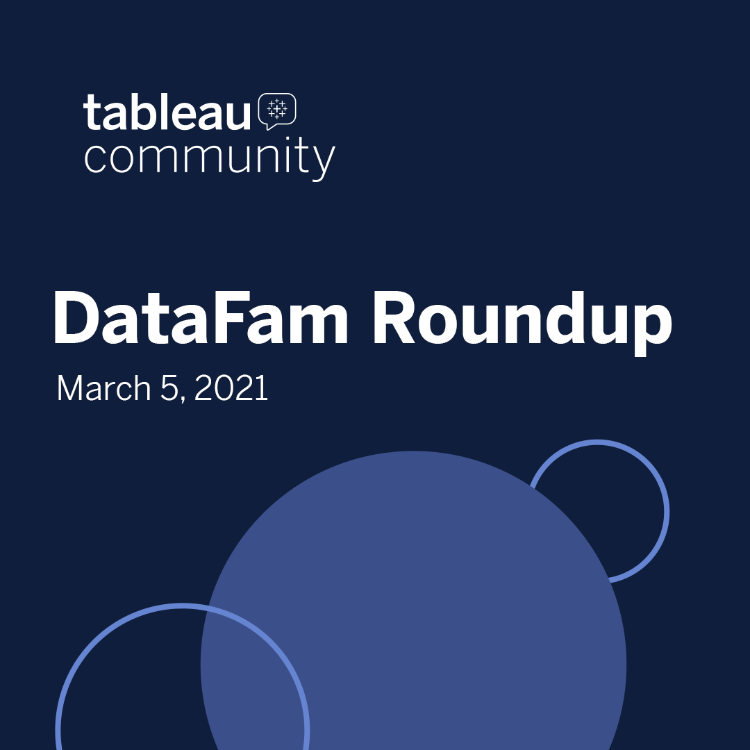 DataFam Roundup - March 5, 2021