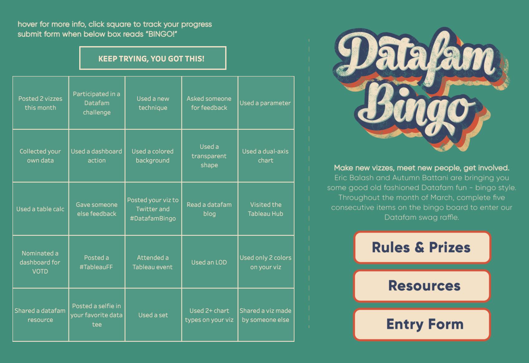DataFam Bingo Viz
