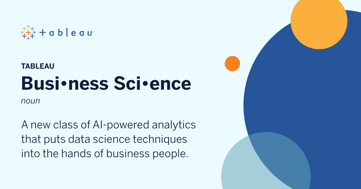What is Tableau Business Science