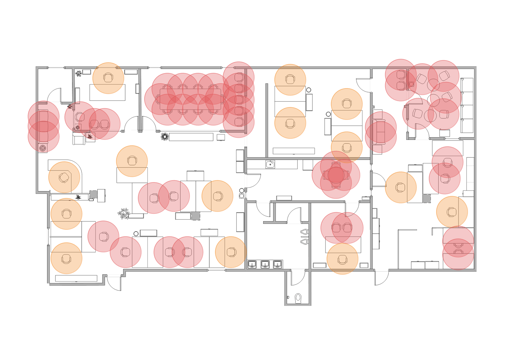 Visualization of floor plan during Covid-19