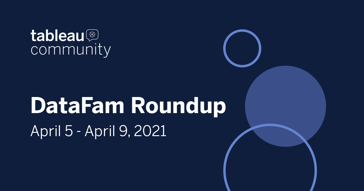 DataFam Roundup April 5- 9