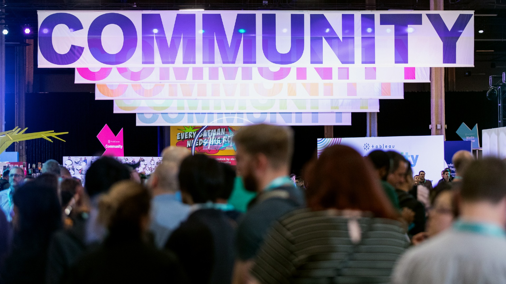 Tableau Community banner at Tableau Conference