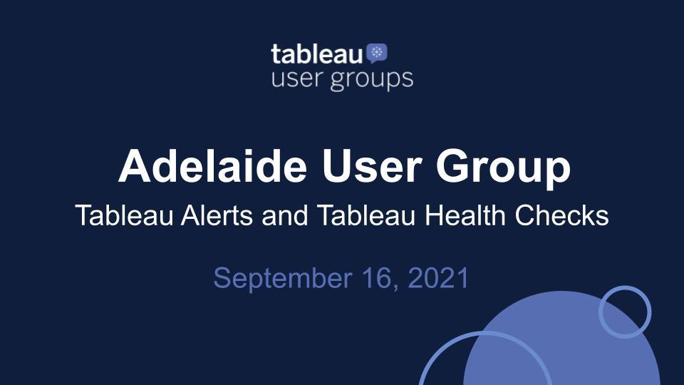 Tuscon Tableau User Group