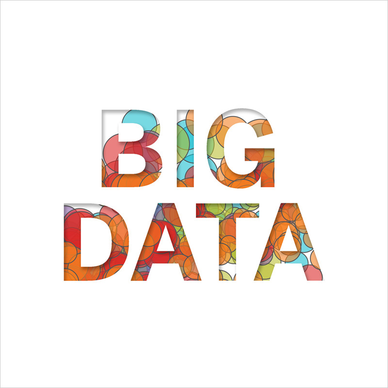 Big Data Colored Text