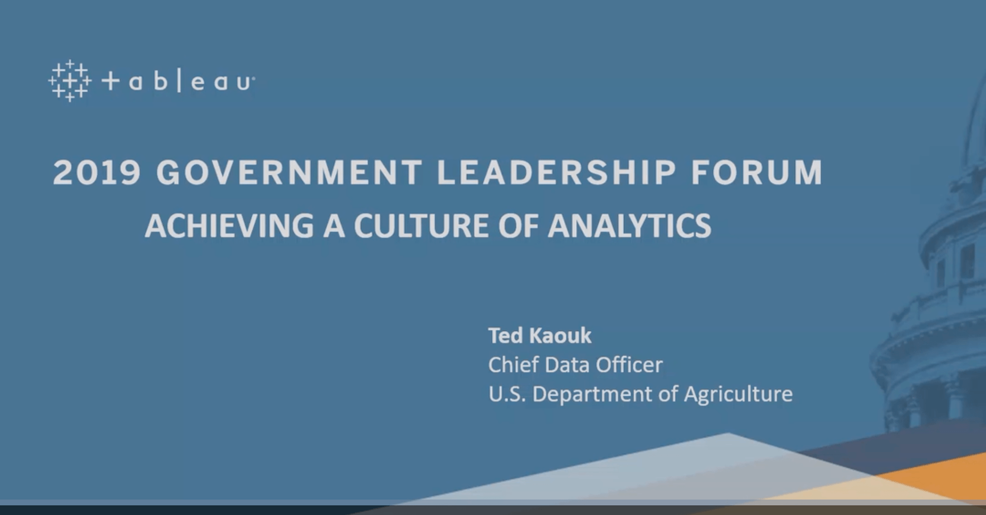 瀏覽至 USDA: Achieving a Culture of Analytics