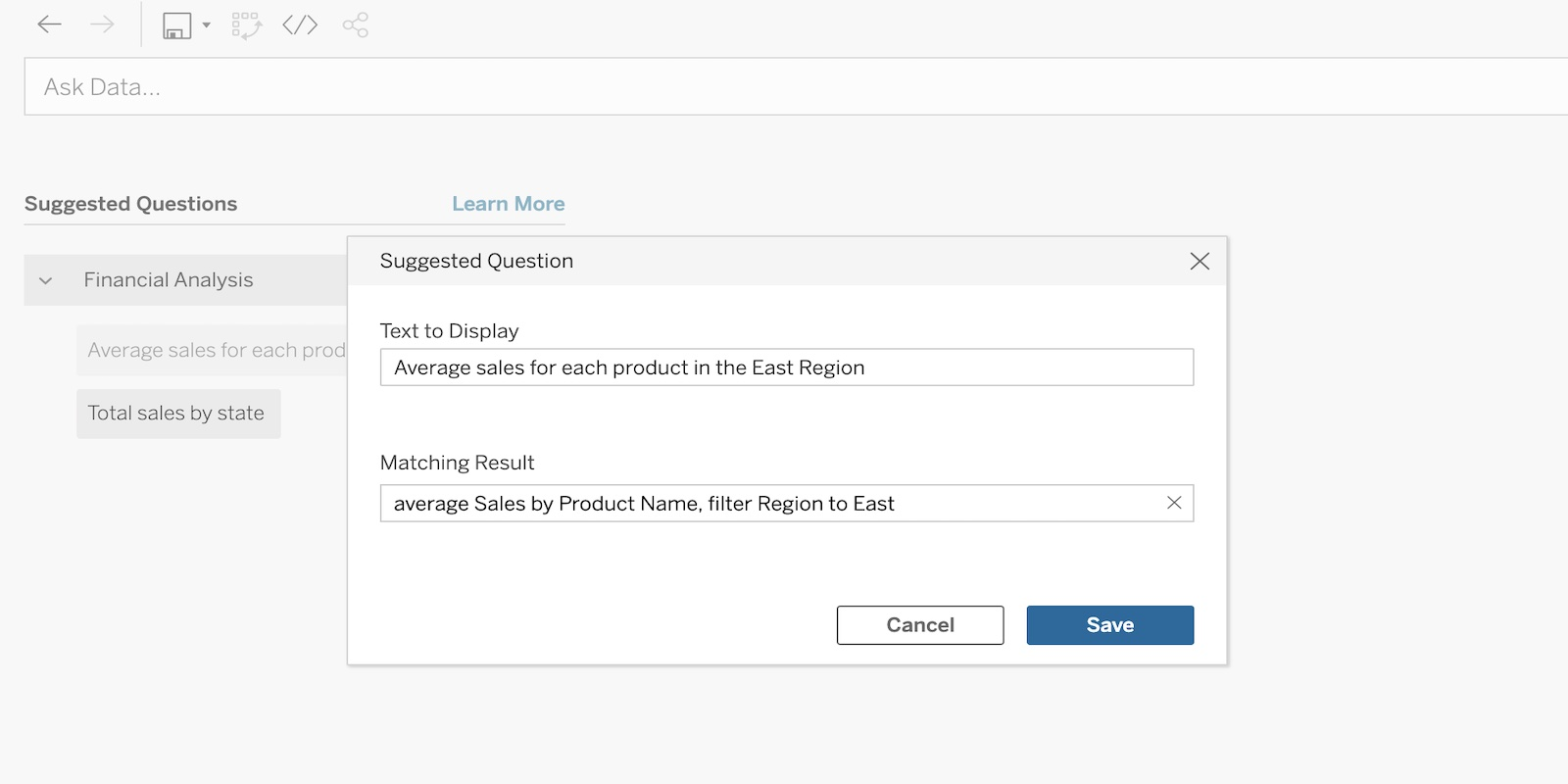 image of Ask Data improvements