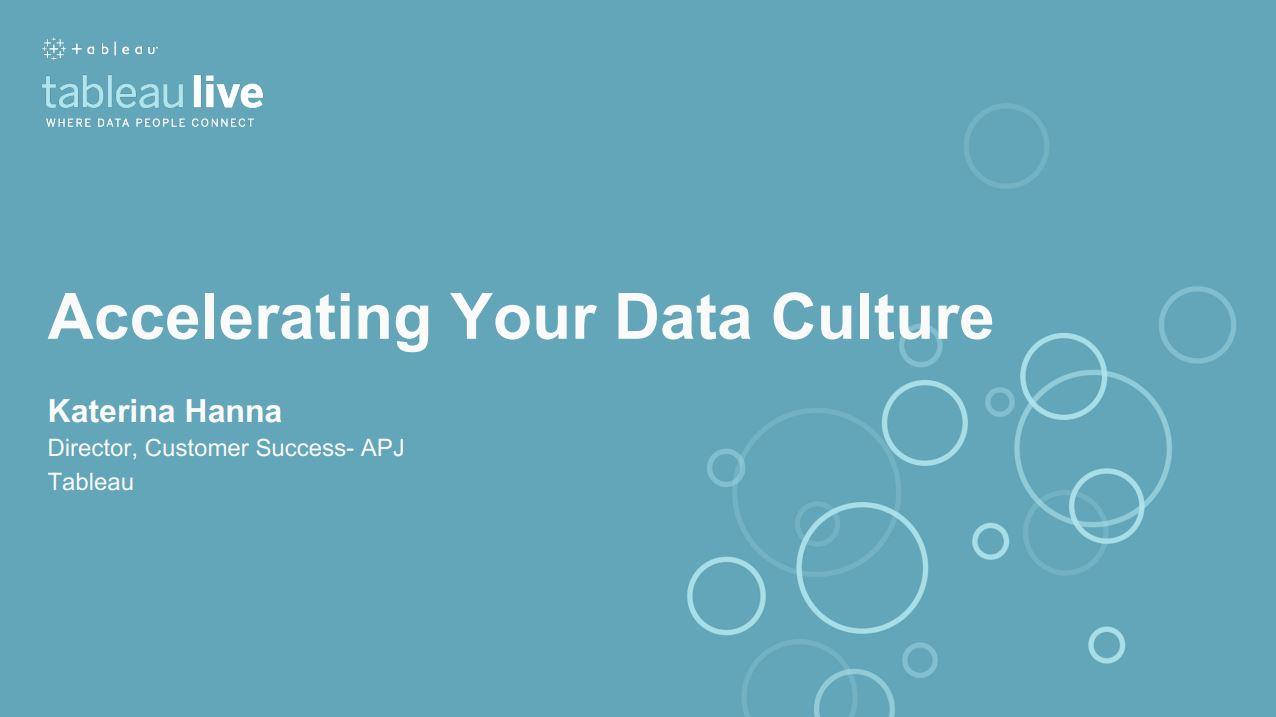 Navigate to Accelerating your data culture