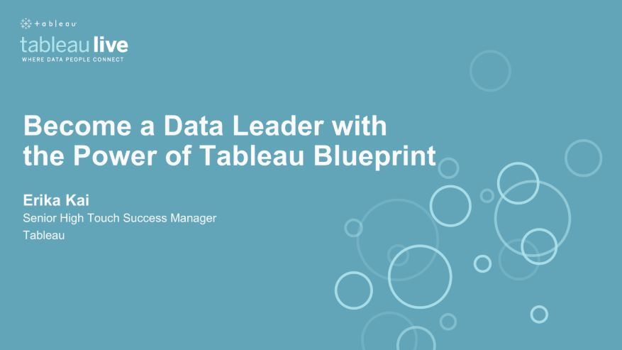 Navigate to Become a Data Leader with the power of Tableau Blueprint