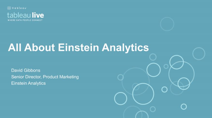 Navigate to All About Einstein Analytics