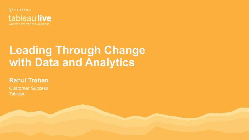 Navigate to Leading through change with data and analytics