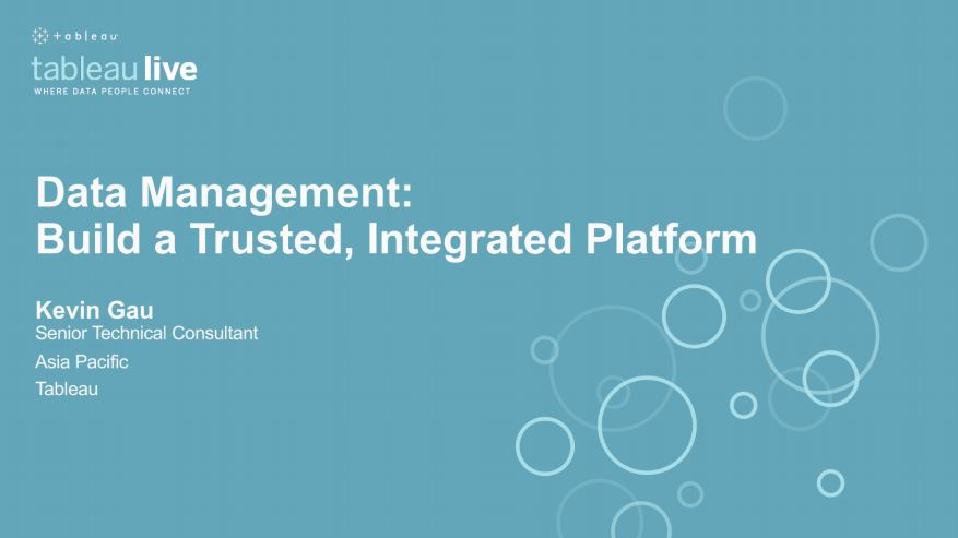 Navigate to Data management: Build a trusted, integrated platform