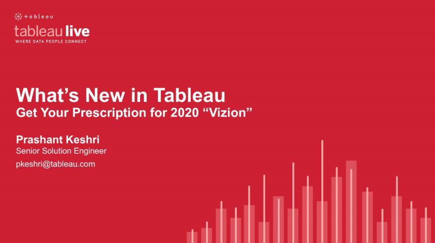 "Navigate to Get Your Prescription for 2020 ""Vizion"": What's New in Tableau"
