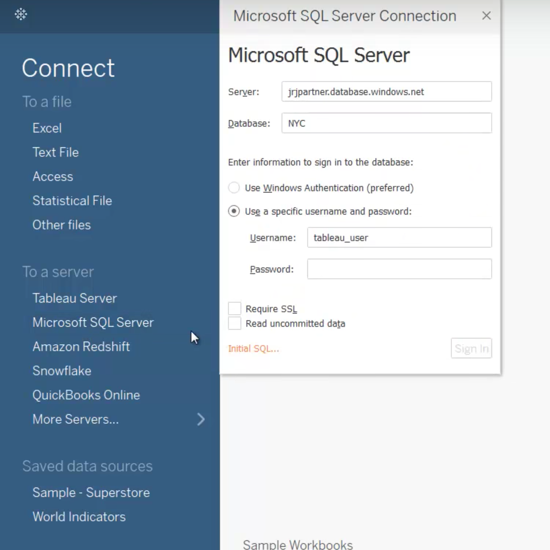 Image of Microsoft Azure SQL Data Warehouse: The Tableau experience