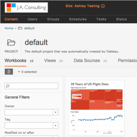 Image of Custom Site Logos Now Available in Tableau Online