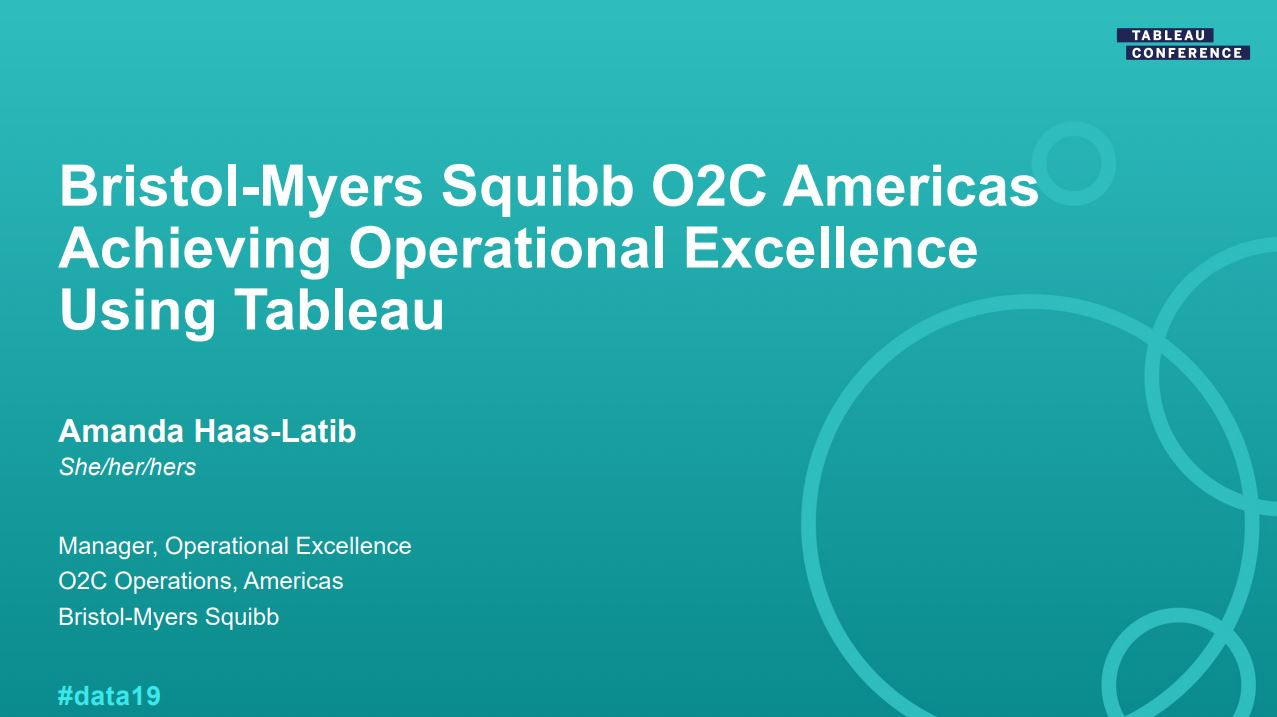 Ir a Bristol-Meyers Squibb: How to analyze large financial operations data sets to drive operational efficiencies and customer experience