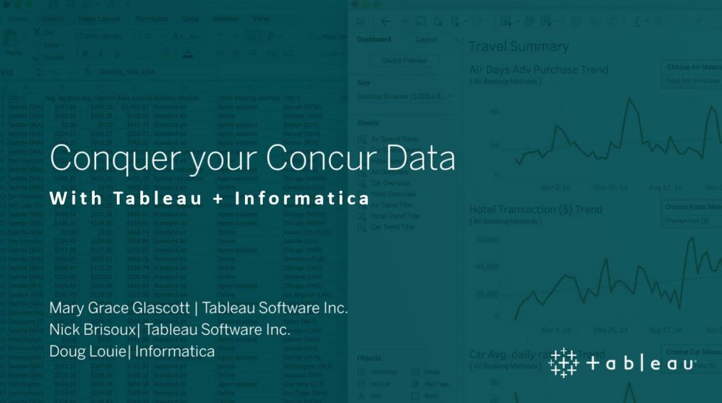 image of <p>Conquer Your Concur Data with Tableau + Informatica</p>
