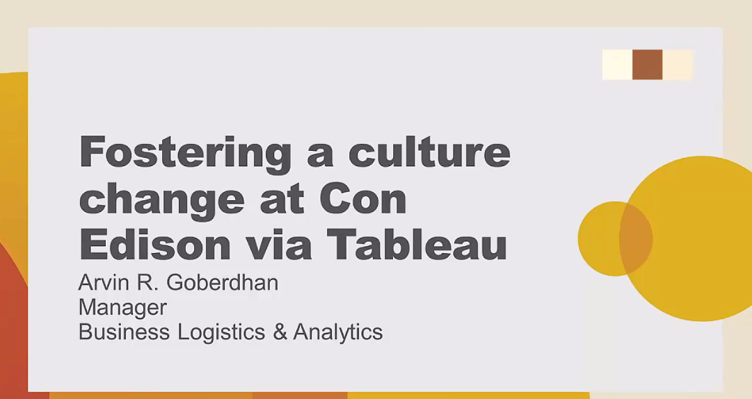 image of Fostering a culture change at Con Edison via Tableau