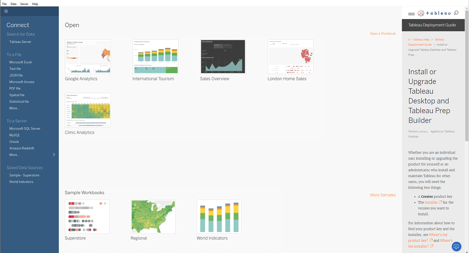 image of <p>Customizable Discover Pane for Tableau Desktop</p>