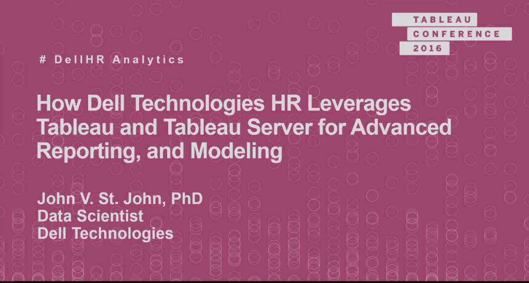 image of How Dell HR leverages Tableau and Tableau Server for modeling and forecasting