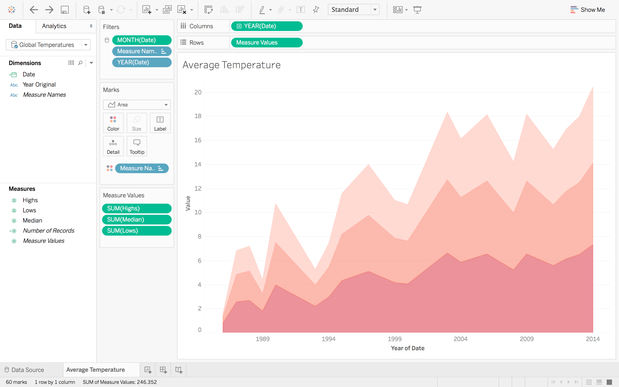 Time series analysis in Tableau