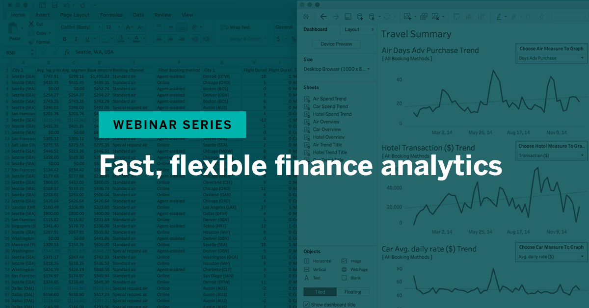 Navigate to Fast, flexible finance analytics
