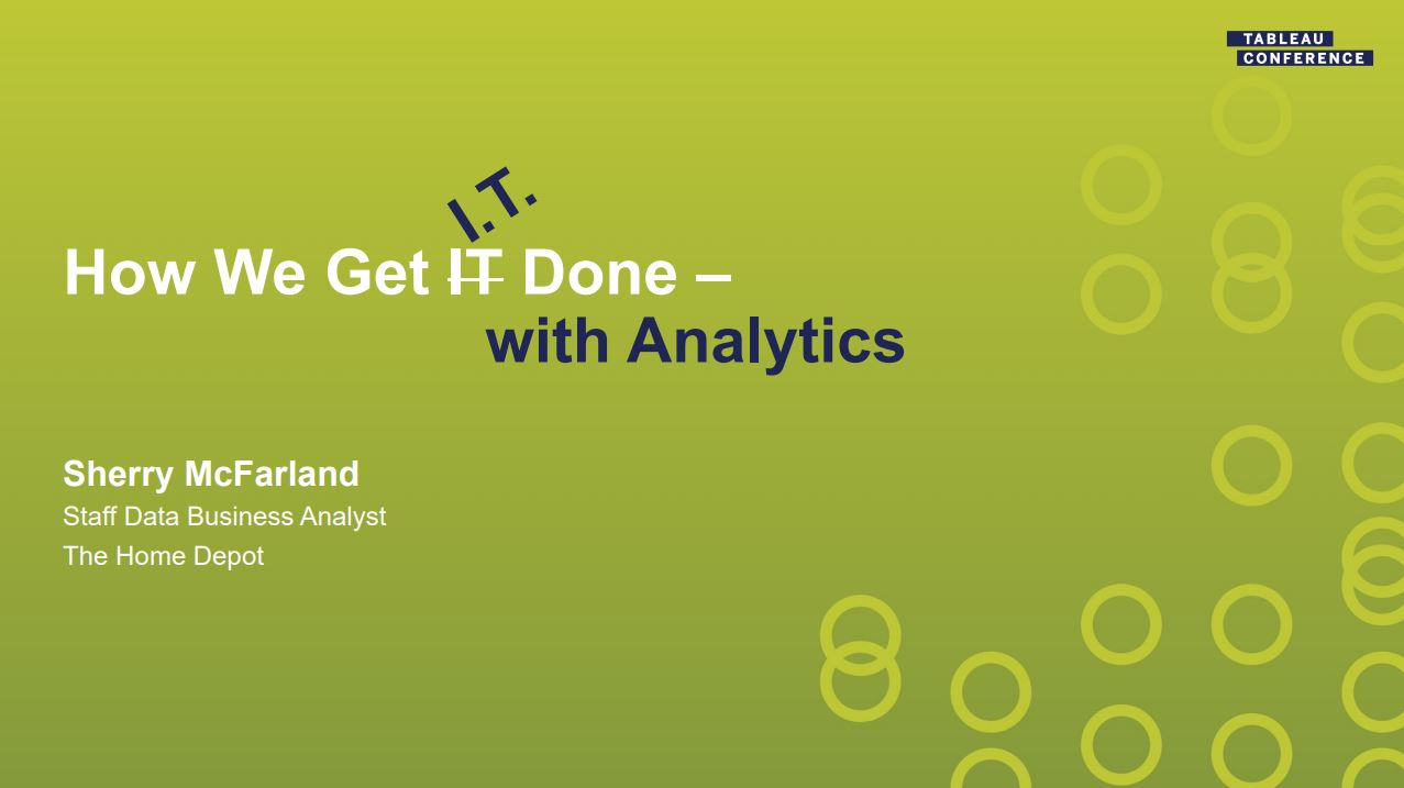 Ir a The Home Depot: How we get I.T. Done with Analytics