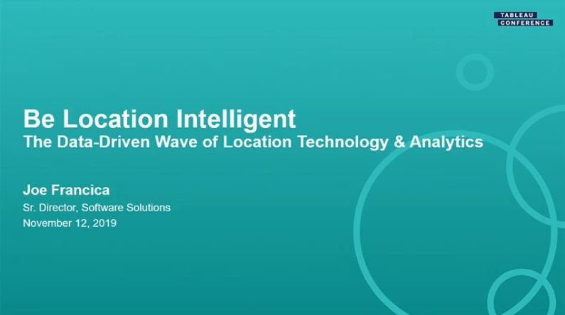 Ir a Be Location Intelligent: Understand where customers, inventory, and impactful events are located