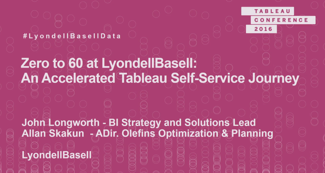 image of Zero to 60 at LyondellBasell: an accelerated Tableau self-service journey