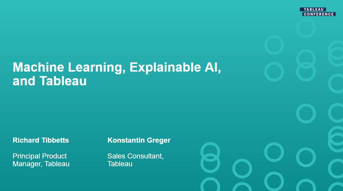 Ir a Machine Learning, Explainable AI, and Tableau
