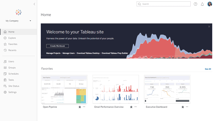 new browsing experience for server and online in tableau 2019.2