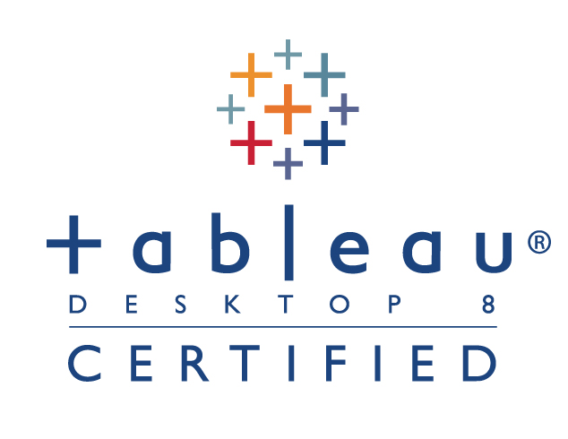 Tableau Desktop 8 Certified Professional logo