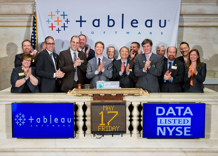 Tableau management rings the bell to open the market