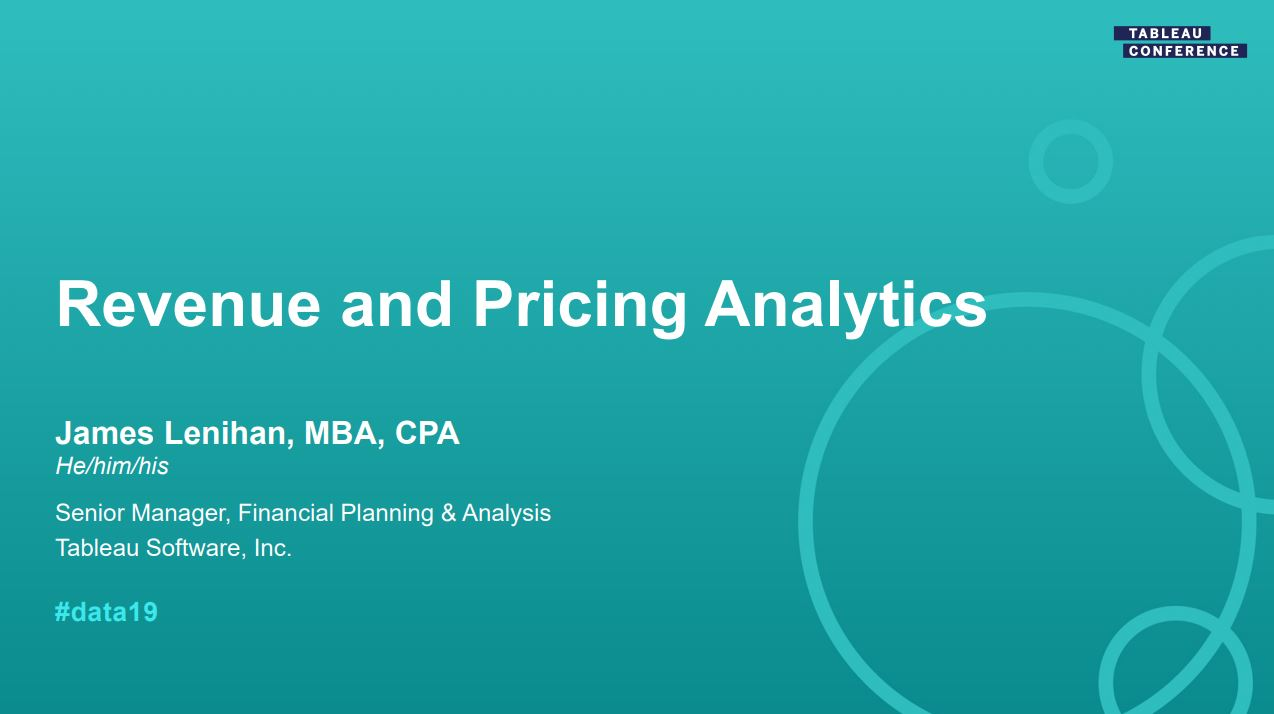 Ir a Learn about visualizing and analyzing pricing and revenue to enable pro-active business decisions
