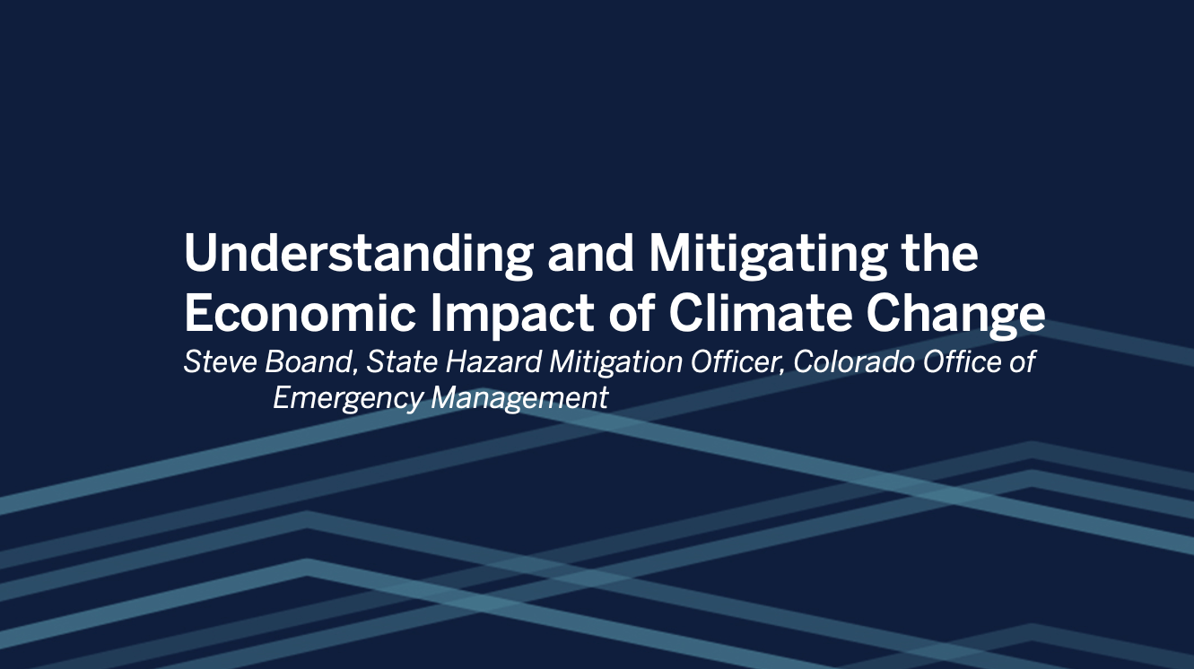 Passa a State of Colorado: Understanding and Mitigating the Economic Impact of Climate Change ​