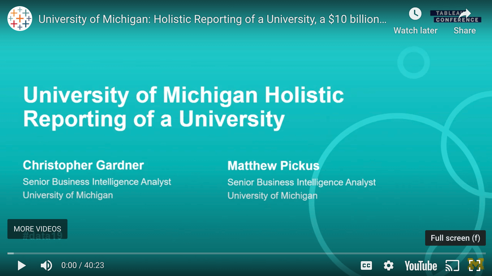 Passa a University of Michigan: Holistic Reporting of a University, a $10 Billion Dollar Business, and a Small City