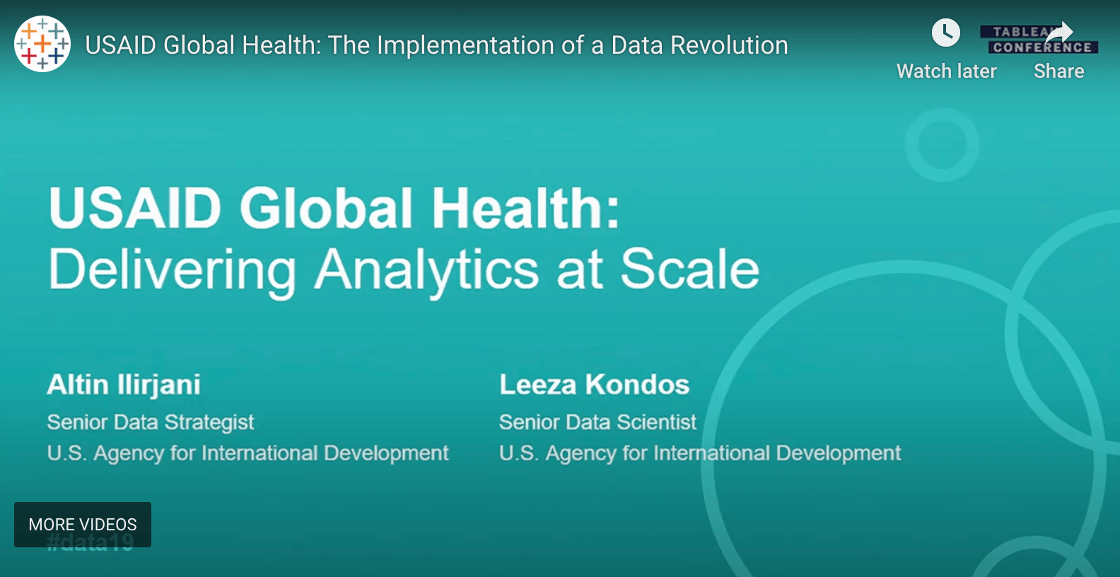 瀏覽至 USAID: Delivering Analytics at Scale