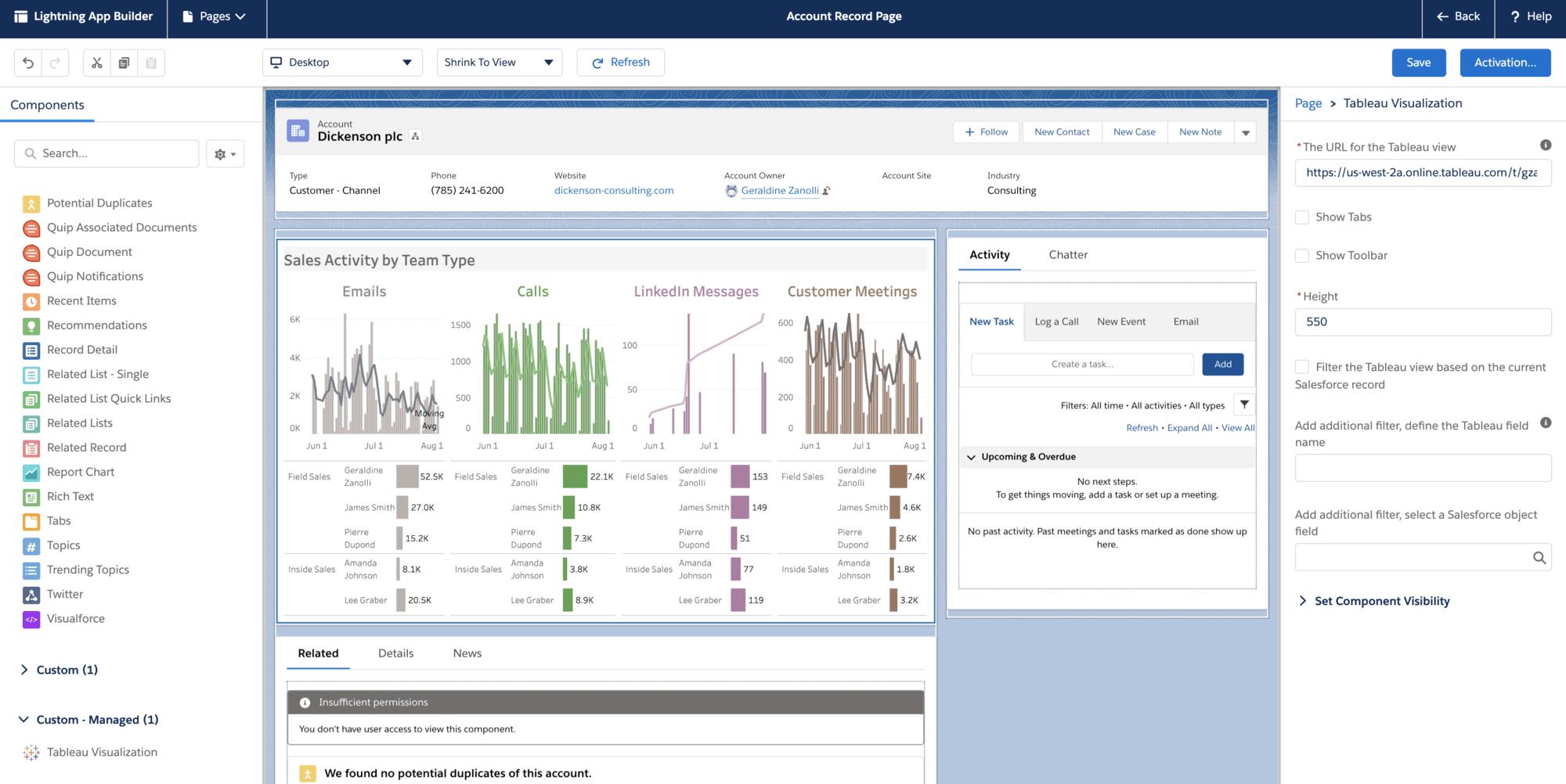 Tableau Viz Lightning Web Component For Salesforce